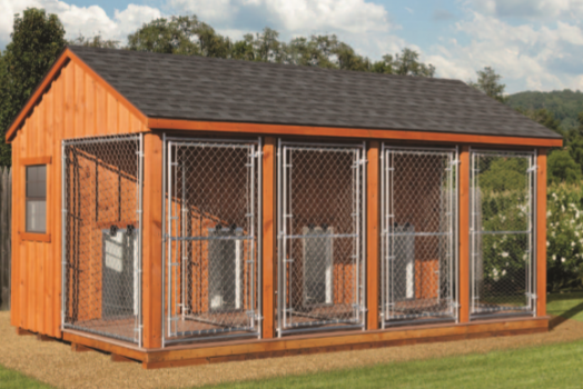 31 new storage sheds gastonia for Dog kennel shed combo plans
